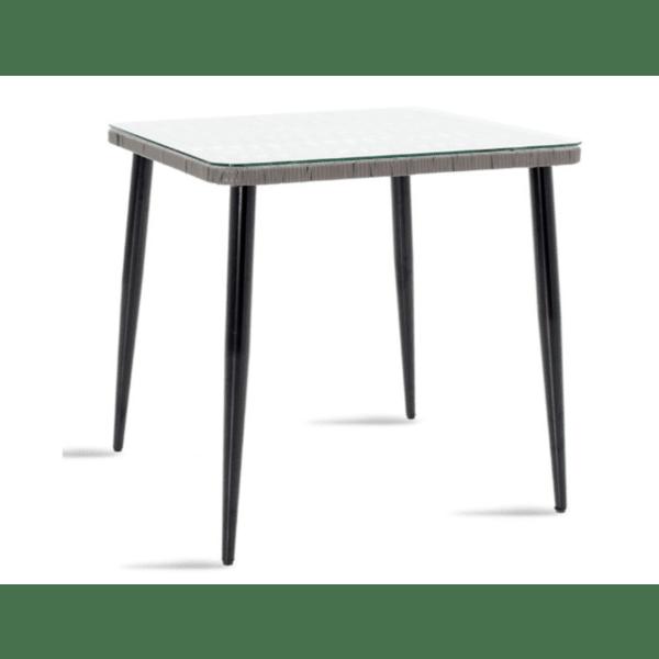 Градинска маса Naoki сив-черен цвят  80х80х78см