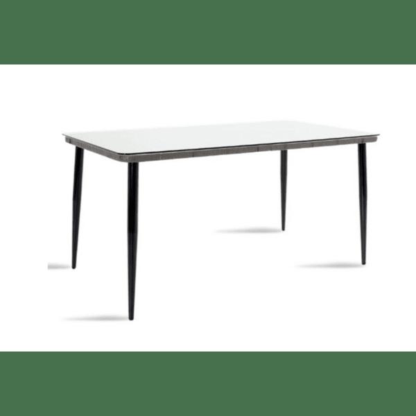 Градинска маса Naoki сив-черен цвят 160x90x78см
