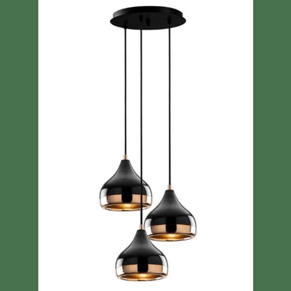 Таванна лампа черен-бронз Φ37x111cm