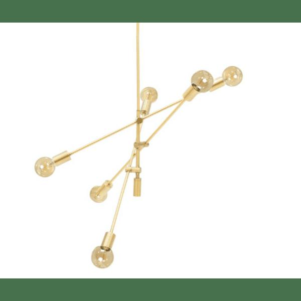 Метална таванна лампа златист цвят Φ95x140см
