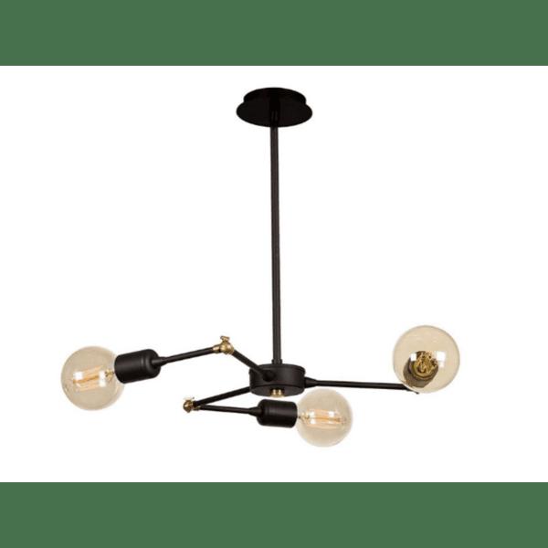 Таванна лампа цвят черен 50x50x43cm