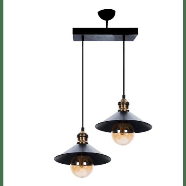 Tаванна лампа  черен-бронз 40x20x90cm