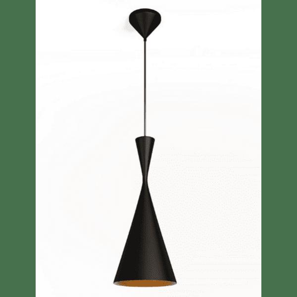 Таванна лампа цвят черен-златен Φ19x136см