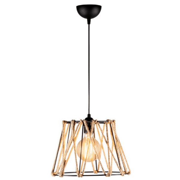 Таванна лампа PWL-0160 черен-естествен 30х30х116см