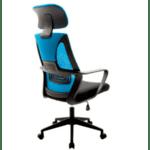 Офис стол Dolphin черен-син цвят