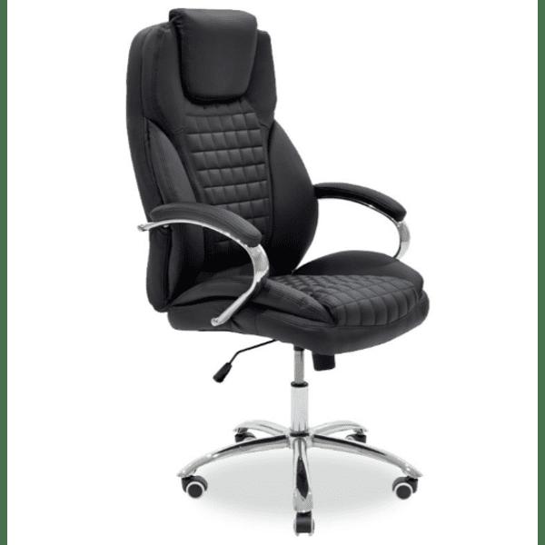 Офис стол Macabo черен цвят