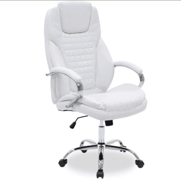 Офис стол Macabo бял цвят