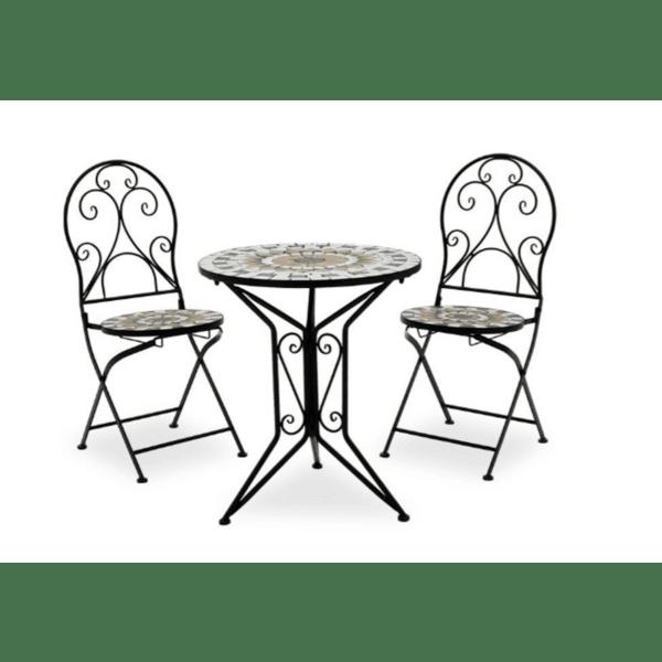Градински комплект Mosaic 3броя метал черен