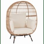 Кресло ALLEGRA бежов цвят 110x85x148 см