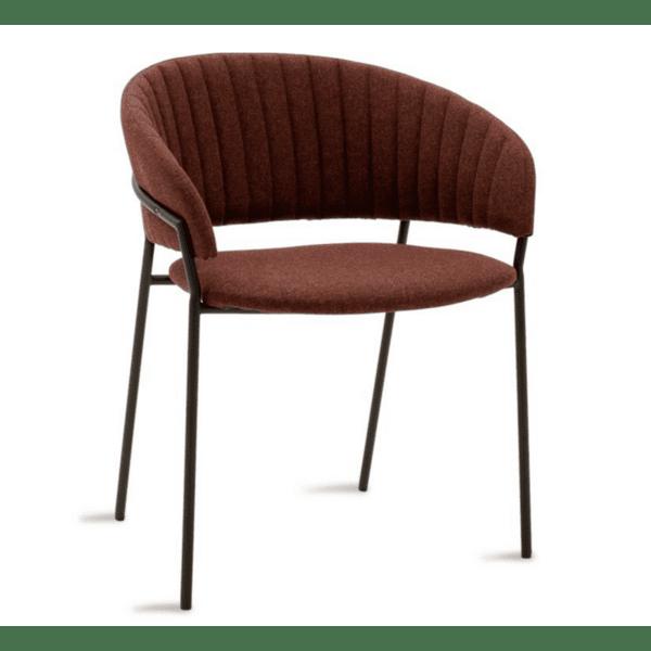 Кресло Maggie метал в черно-плат керемиден цвят