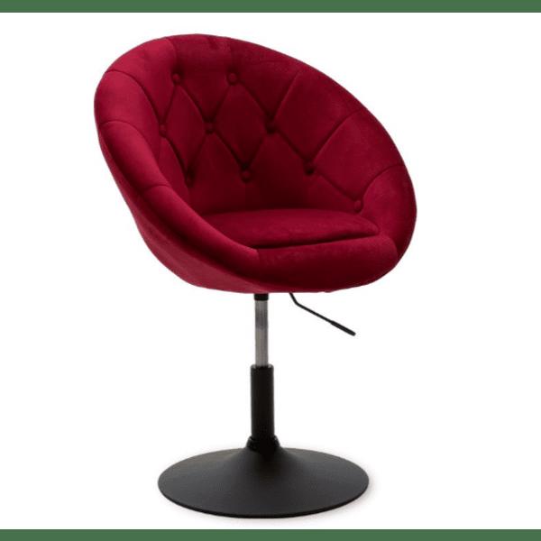 Кресло Ivy  цвят бордо 68x56x82-94см