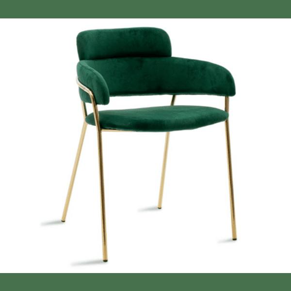 Кресло Nikole метал златист -кипарис цвят