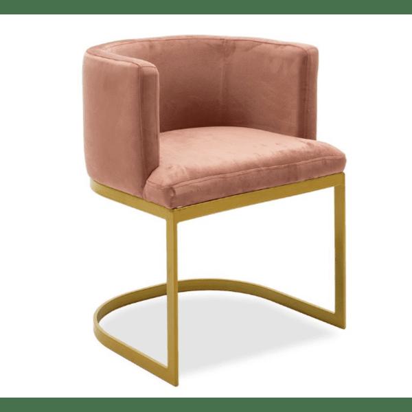 Кресло Viv цвят пепел от рози  53x51x71cm