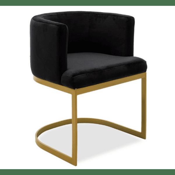 Кресло  Viv черно кадифе 53x51x71cm
