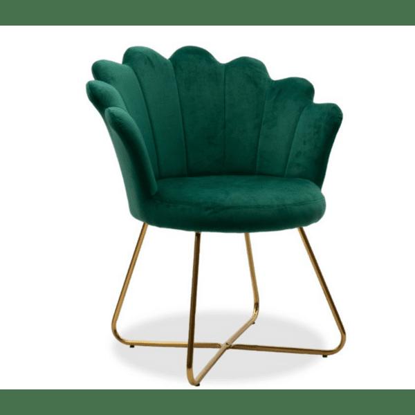 Кресло Evi цвят кипарис 73x62x87см