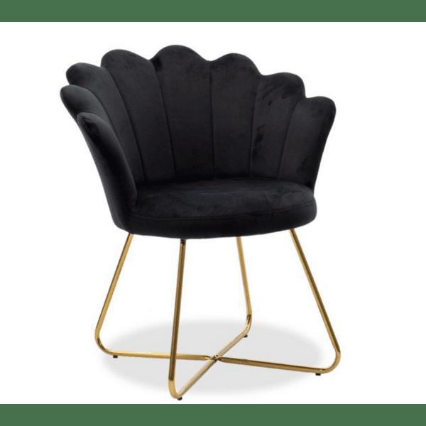 Кресло Evi цвят черен
