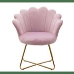 Кресло  Evi розов  73x62x87см