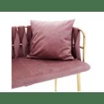 Диван 2-местен Ivory розово кадифе 110x52x77см