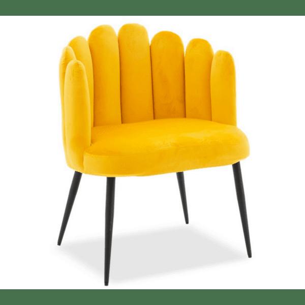 Кресло Avery жълт цвят 68x60x87cm