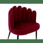Кресло Avery цвят бордо  68x60x87см
