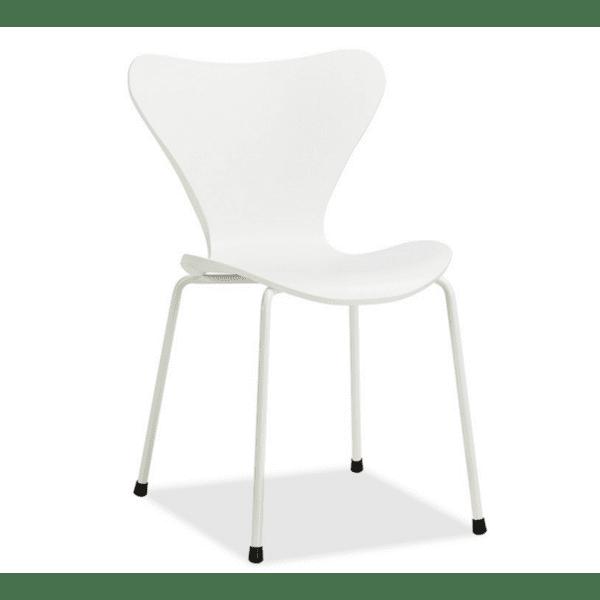 Стол Abee полипропилен-метал бял цвят