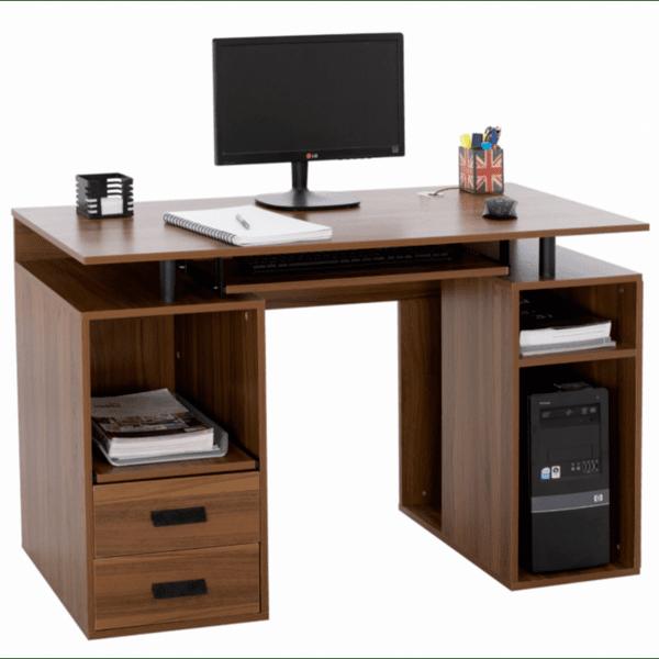 Офис бюро STATUS орех -черен цвят