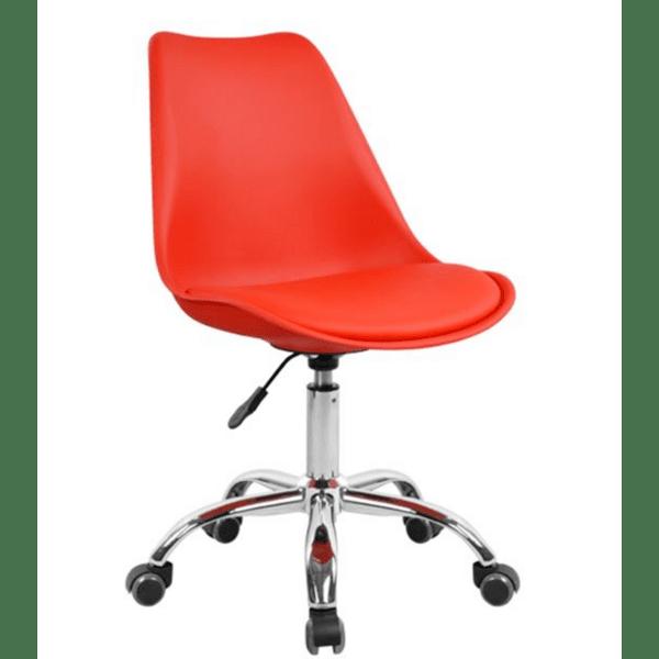 Офис стол  VEGAS червен цвят