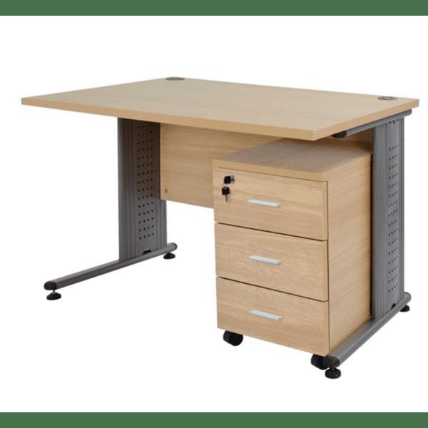 Комплект за офис бюро +шкаф цвят дъб