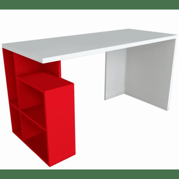 Офис бюро Redi бял-червен цвят 120x60x73,8см