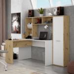 Ъглово бюро +библиотека+шкаф
