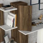 Офис бюро + библиотека бял-орех 116,7х45х120 см.