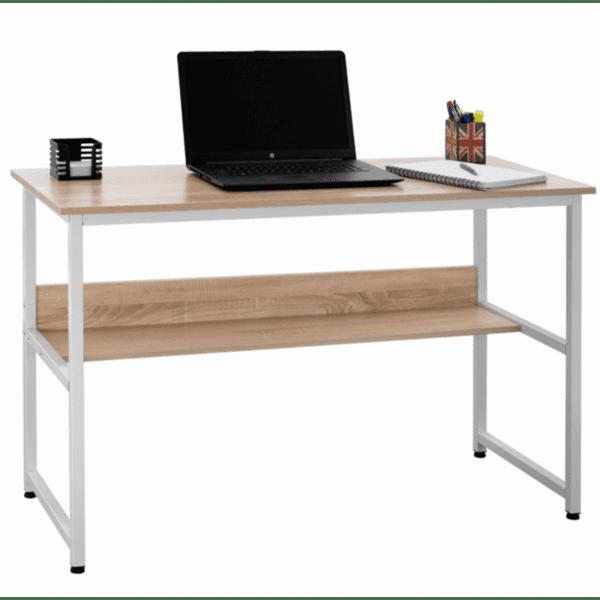 Офис бюро цвят сонома -бял 120X50X75см