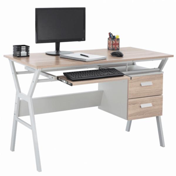 Офис бюро Сани цвят сонома-бял  120X60X76см