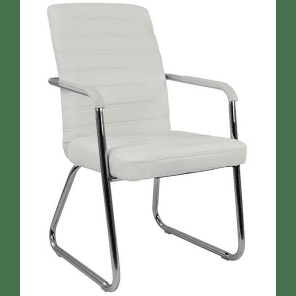 Посетителски стол Мания бял цвят