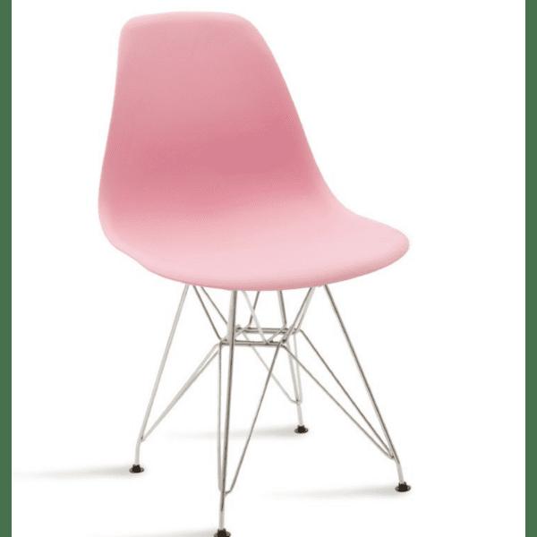 Трапезен стол Adelle розов цвят