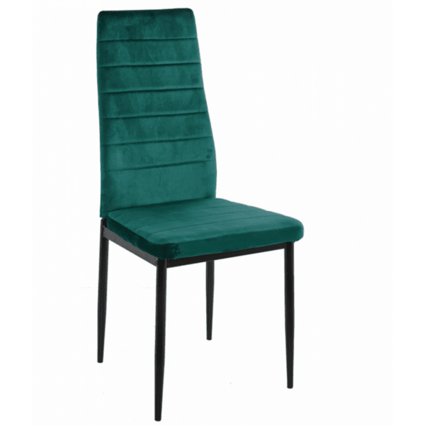 Трапезен стол LADY цвят кипарис кадифе