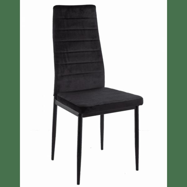 Трапезен стол LADY черно кадифе