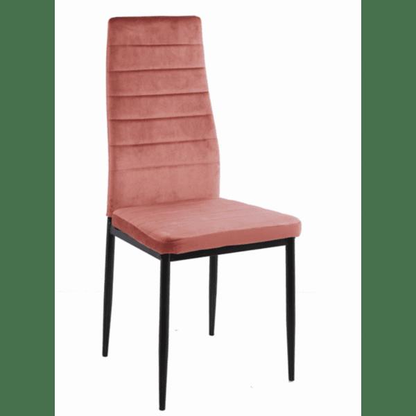 Трапезен стол LADY розово кадифе