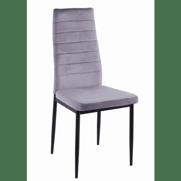 Трапезен стол LADY сиво кадифе