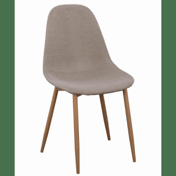 Трапезен стол LEONARDO бежов цвят 45Χ47Χ87см