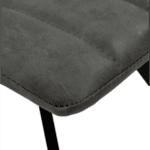 Трапезен стол JUSTIN сив цвят-кожа