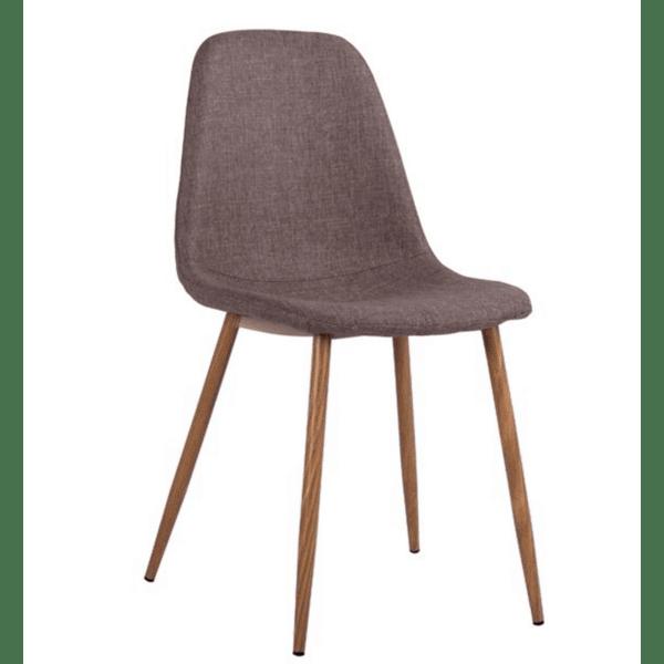 Трапезен стол  LEONARDO кафяв цвят