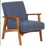 Кресло PAUL - орех - син