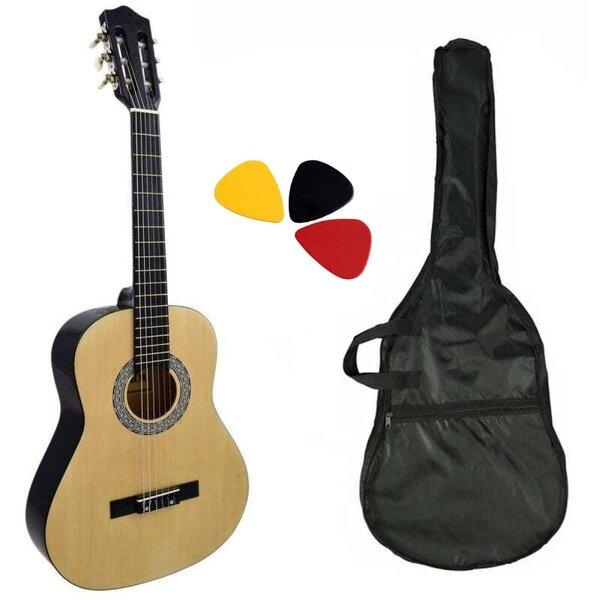 Комплект класическа китара с найлонови струни Hobax FCG-110 N, 4/4 стандартен размер, с калъф и перца. ПОДАРЪК онлайн уроци на стойност 100 лв