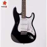 Комплект електрическа китара Hobax FST-120 BK Pack с калъф, кабел, 3 перца и 15W усилвател. ПОДАРЪК онлайн уроци на стойност 100 лв.