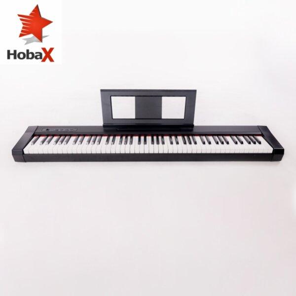 Дигитално пиано Hobax S-196, 88 клавиша, 7 октави, 8 звуци, 128 ритми, вградена стойка за ноти, sustain педал + 2 ПОДАРЪКА - стикери за пиано и слушалки