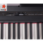 Дигитално пиано HOBAX S-192, 88 клавиша, HAMMER ACTION тежка клавиатура 7 октави, 8 звуци, 128 ритми, стойка за ноти, SUSTAIN педал + 3 ПОДАРЪКА - слушалки, стикери за клавиши и покривало