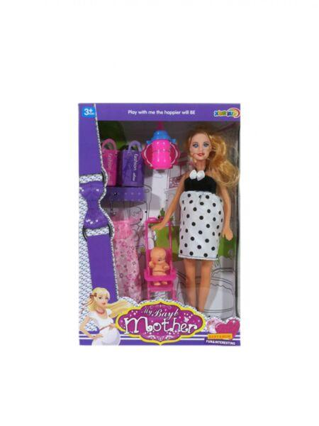 Игрален комплект с кукла майка