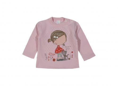 Ватирана блузка за момиченце