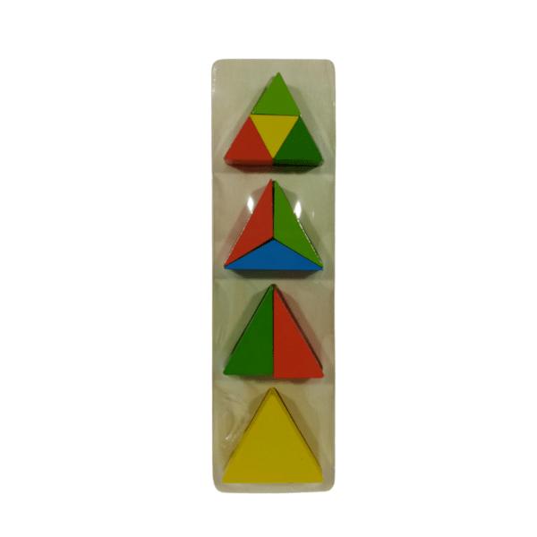 Дървена играчка- геометричен пъзел